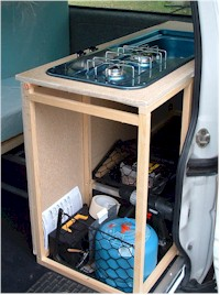 camping kitchen sink unit campervan conversion the kitchen 5095